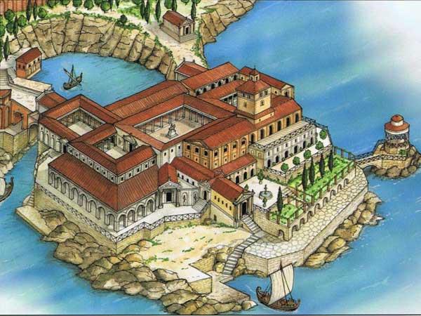 Villa Pollio Roman Ruins In Capo Di Sorrento